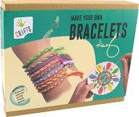 """Изплети сама - Цветни гривни - Творчески комплект от серията """"Crafts"""" - играчка"""