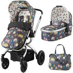 Бебешка количка 2 в 1 - Ooba - С 4 колела -