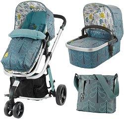 Бебешка количка 2 в 1 - Giggle 2 - С 3 колела -