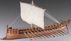 Гръцка Бирема - Сглобяем модел на кораб от дърво -