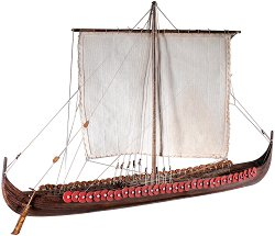 Викингски кораб - Longship - Сглобяем модел на кораб от дърво -
