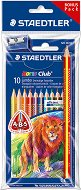 Цветни моливи - Noris Club 128 - Комплект от 10 цвята с подарък молив и острилка