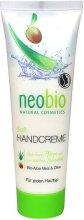 Neobio Soft Hand Cream - Омекотяващ крем за ръце с алое и маслина -