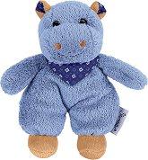 Хипопотамче - Norbert - Мека бебешка играчка с дрънкалка - играчка