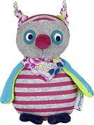 Бухалче - Emilie - Мека бебешка играчка с дрънкалка -
