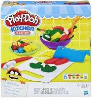Направи сам - Плодове и Зеленчуци - Творчески комплект с моделин - играчка