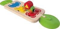 Цветове и форми за сортиране - Детска дървена играчка -