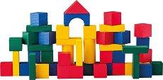 Детски дървен конструктор - 50 части - играчка
