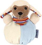 Агънце - Stanley - Мека бебешка играчка с дрънкалка -