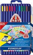 Цветни моливи - Colour set - Комплект от 12 цвята с подарък флумастери