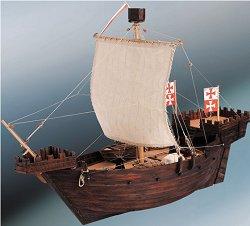 Германски търговски кораб - Hanse Kogge - Сглобяем модел на кораб от дърво -