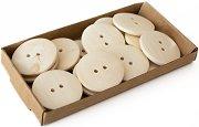 Декоративни дървени копчета - Комплект от 15 броя с диаметър 30 mm