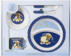 Детски комплект за хранене - Агънцето Stanley - За бебета над 6 месеца -