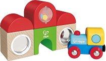 Гара с влак - Детска дървена играчка - играчка