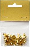 Коледни камбанки - Комплект от 30 броя с диаметър 0.8 cm