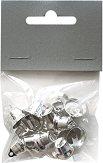 Сребристи камбанки - Комплект от 15 броя с диаметър 1.4 cm