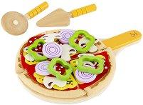 Пица - Комплект дървени фигури - играчка