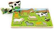 Ферма - Детски дървен пъзел -