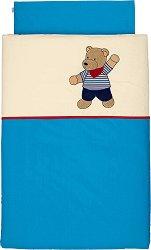 Бебешки спален комплект от 2 части - Мечето Ben - 100% памук за матраци с размери 60 x 120 cm и 70 x 140 cm -