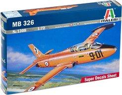 Италиански реактивен самолет - MB-326 - Сглобяем авиомодел -