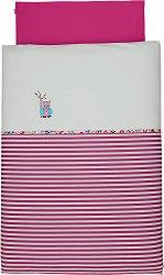 Бебешки спален комплект от 2 части - Бухалчето Emilie - 100% памук за матраци с размери 60 x 120 cm и 70 x 140 cm -
