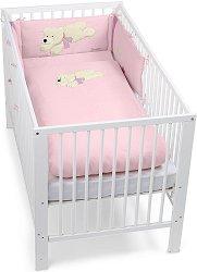 Спален комплект за бебешко креватче - Мечето Ella - 3 части -