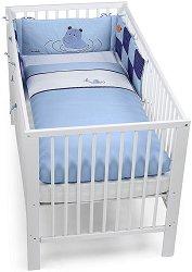 Спален комплект за бебешко креватче - Хипопотамчето Norbert - 3 части -