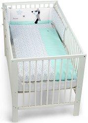 Спален комплект за бебешко креватче - Сурикатът Elvis - 3 части -