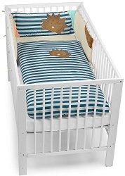 Спален комплект за бебешко креватче - Лъвчето Лео - 3 части -
