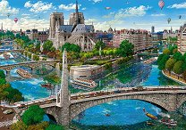 Изглед към Нотр Дам, Париж - пъзел