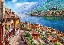 Езерото Комо в Ломбарди, Италия - пъзел