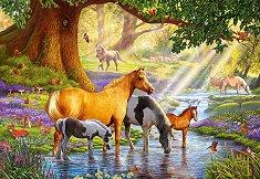 Коне в реката - пъзел
