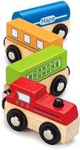 Шарено влакче - Детска дървена играчка - играчка
