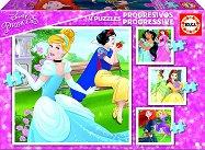 """Принцесите на Дисни - 4 пъзела от серията """"Progressive Puzzles"""" -"""