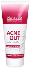 """Biotrade Acne Out Oxy Wash - Измиващ гел за лице за проблемна кожа от серията """"Acne Out"""" - лосион"""