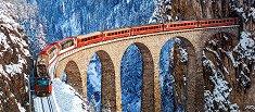 Виадукт Ландвасер, Швейцарски алпи -