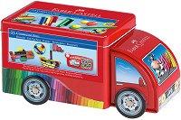 Флумастери - Connector Truck - Комплект от 33 цвята - продукт