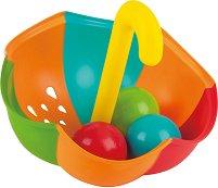 Чадър с 3 топки - Детска играчка за баня -