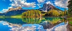 Изумруденото езеро, Канада - панорама - пъзел