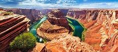 Конската подкова, Глен каньон, Аризона - панорама - пъзел