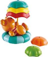Мече Теди с чадъри - Детска играчка за баня -