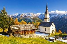 Църква Мартерле, Каринтия, Австрия - панорама - пъзел