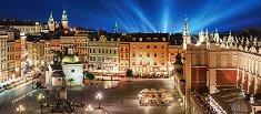 Кралският площад в Краков през нощта - панорама - пъзел