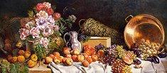 Цветя и плодове - Анри Фантен-Латур (Henri Fantin-Latour) - пъзел