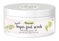 Nacomi Shugar Foot Scrub Refreshing Green Tea - Захарен ексфолиант за крака с аромат на зелен чай - масло
