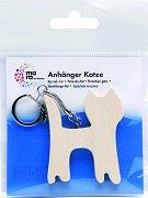 """Ключодържател с дървена фигура - Коте - Предмет за декориране от серията """"Mara"""""""