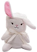 Бебешко плюшено одеяло - Зайче - Размери 75 x 100 cm -