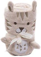 Бебешко плюшено одеяло - Лъвче - Размери 75 x 100 cm -