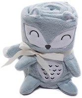 Бебешко плюшено одеяло - Лисиче - Размери 75 x 100 cm -