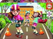 Момичета със скейтбордове - пъзел